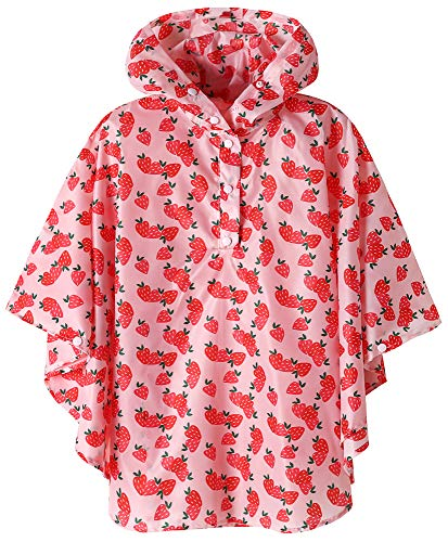 SaphiRose Waterproof Kids rain Jacket Coat Strawberry XX-Large ()