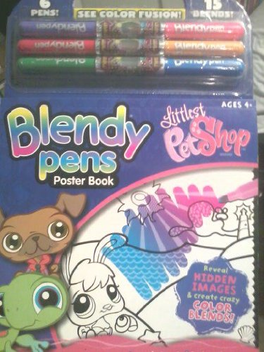Blendy Pens Poster Book- The Littlest Pet Shop (January 2009) ()