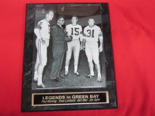 Bart Starr Paul Hornung Jim Taylor Vince Lombardi Packers Collector Plaque w/8x10 VINTAGE BW Photo ()