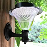 LED Solar Wall Lights Garden Courtyard Outdoor Landscape Path Lamp.