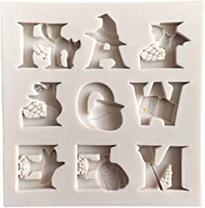 Halloween Letter DIY Chocolate Cake Candy Cookies Fondant Mould Kitchen Baking Tool Baking Silicone Molds