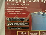Executive Series Hanging Folder System, 1 Frame & 12 Folders, Fits Letter or Legal Size
