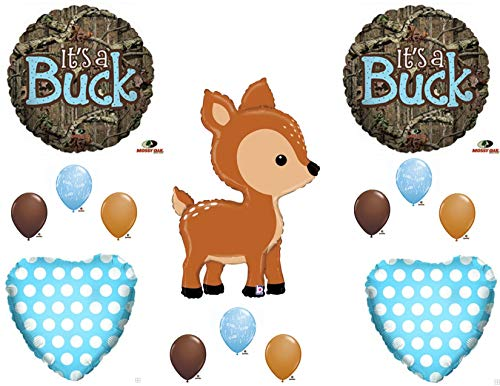 - Oh Deer It's A Buck Camo Baby Boy Shower Balloons Decoration Supplies