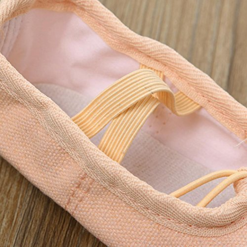 Hausschuhe BG JIANGFU Ballett Fitness Schuhe Kinder Segeltuch Kinder für Tanzschuhe Softsohlen tanzen Pointe Gymnastik Kinder Übungsschuhe Ballett T0a7rTq