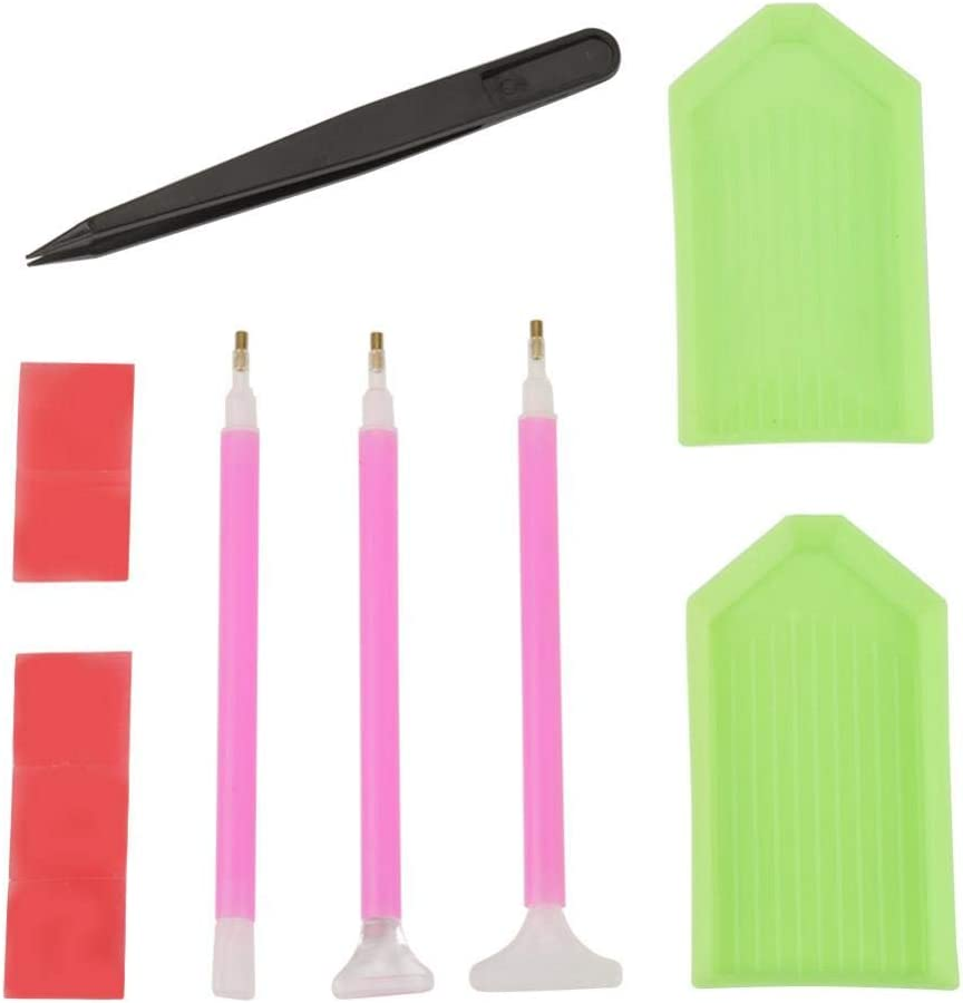 #1 Akozon Embroidery Pen DIY Diamond Painting Cross Stitch Tools Accessories Kit
