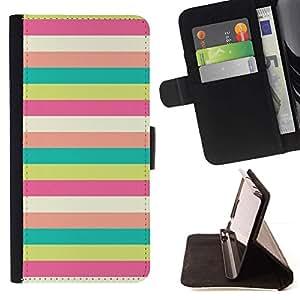 Momo Phone Case / Flip Funda de Cuero Case Cover - Patrón Sunny Beach en colores pastel del trullo - HTC DESIRE 816