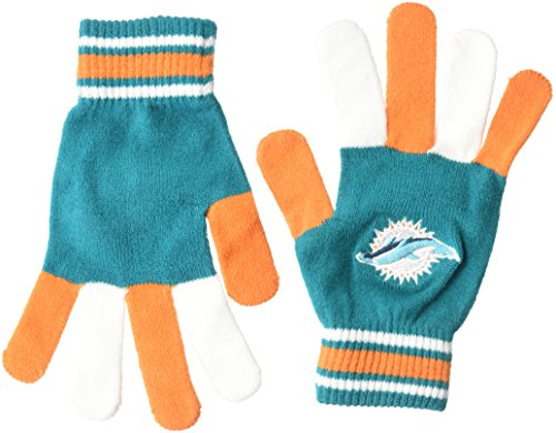Miami Dolphins Nfl Team (NFL Miami Dolphins Multi color Team Knit Gloves)