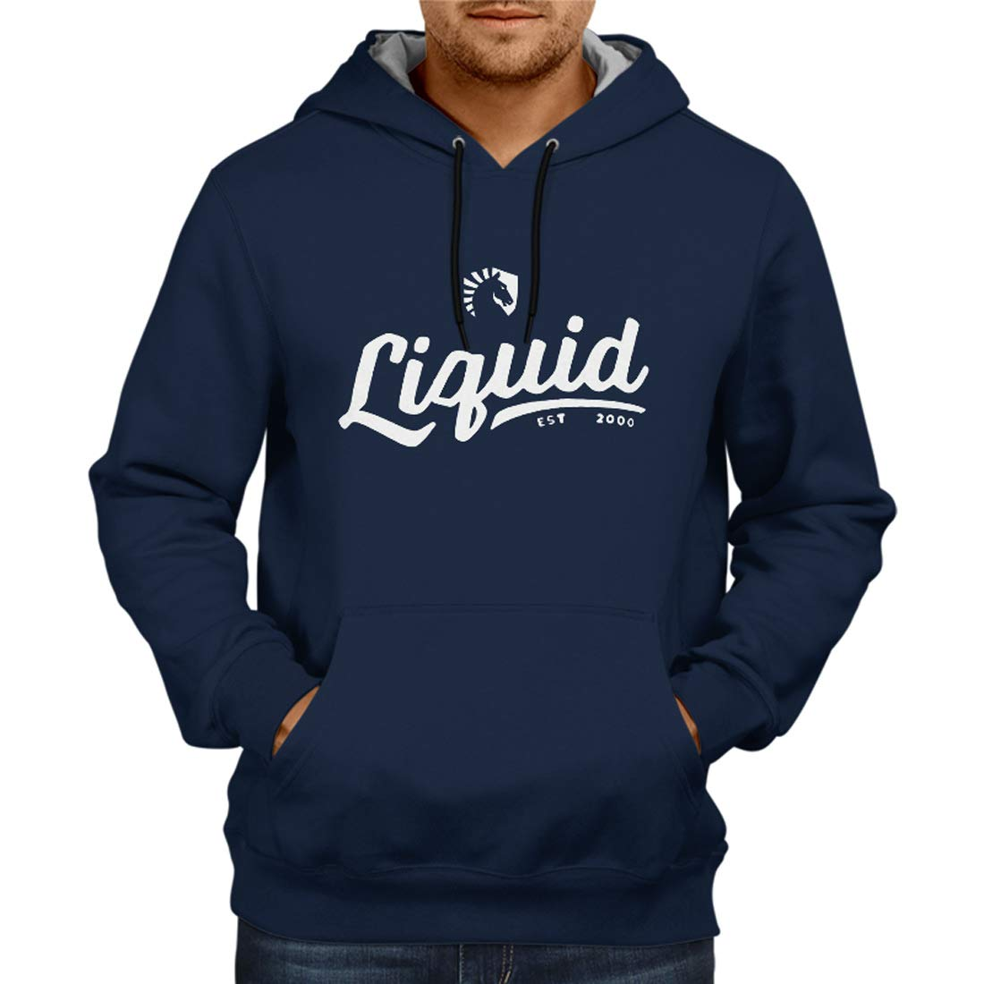 Fashion And Youth Team Liquid Navy Blue Gaming Hoodie | Dota 2 Jacket Sweatshirt | Starcraft Hoodie | Esports Hoodie | Mens Hoodies Hoodies for Mens
