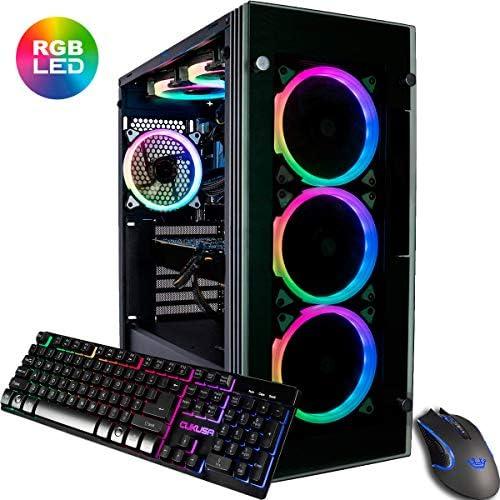 CUK Stratos Gamer PC Liquid Cooled Intel i9-9900K, NVIDIA GeForce RTX 2080 Ti, 32GB RAM, 1TB NVMe SSD 2TB, 750W Gold PSU, AC WiFi, Windows 10 Best Tower Desktop Computer for Gamers