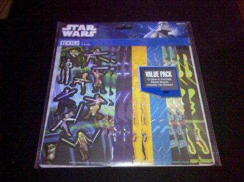 Star Wars 120 Clone War Glow in the Dark Stickers