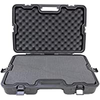 SAS Lockable Heavy Duty Hard Camera Case with Pluck Foam and Locking Holes for Camera, Pistol, Archery Accessories or Handgun