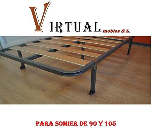 VIRTUALMOBLES SOMIER Basic LÁMINAS DE Madera 90X190 SIN Patas
