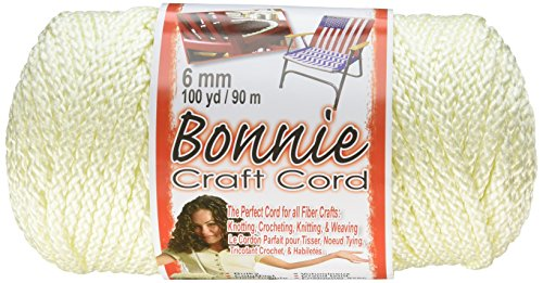 Pepperell 6mm Bonnie Macram Craft Cord, 100-Yard, Ivory