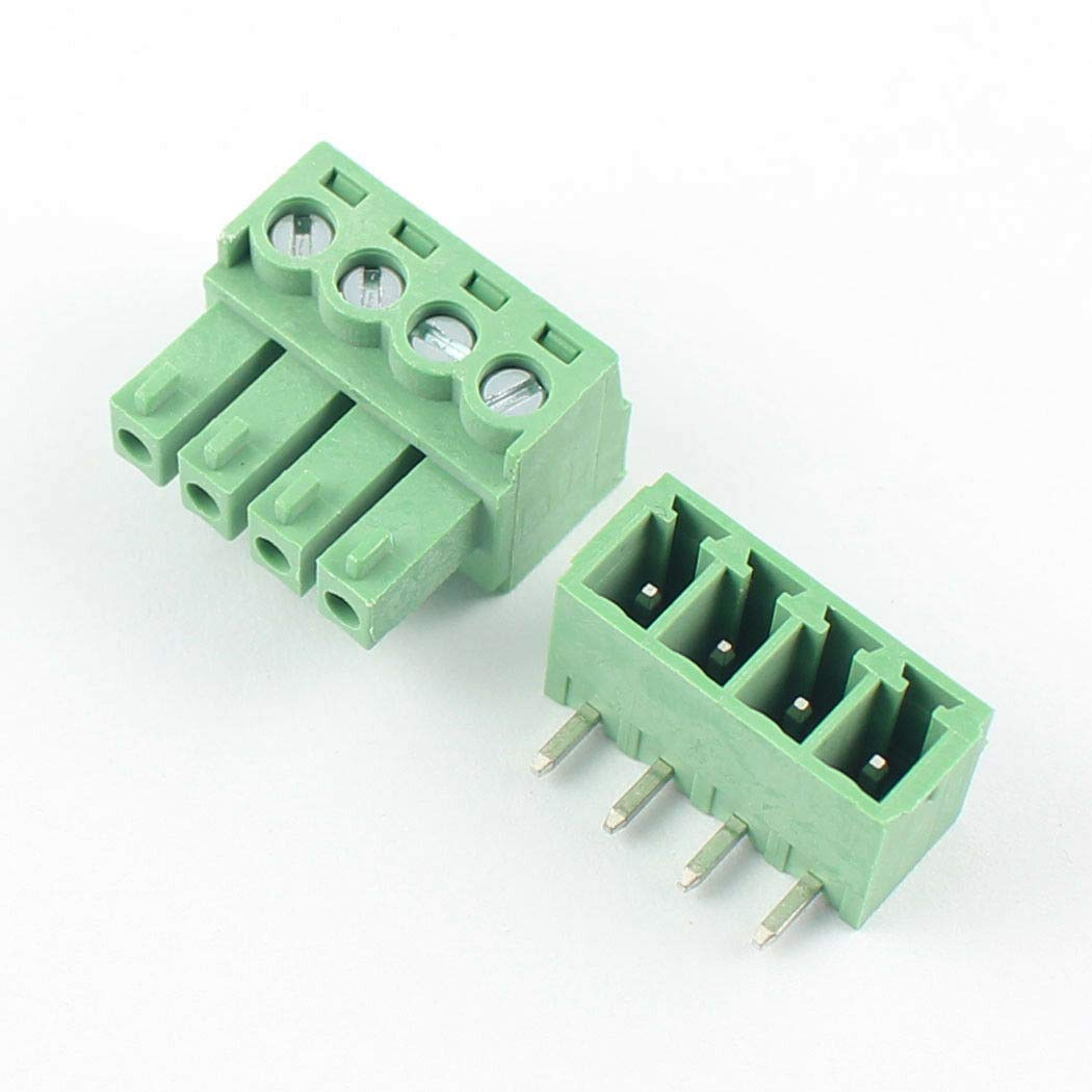 5 piezas 2 polos 5.08mm Pitch Universal Tornillo Terminal Bloque Conector de placa de circuito impreso 300V 16A