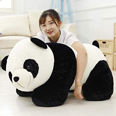 LINWEI Cute Baby Big Giant Panda Bear Plush Stuffed Animal Doll Animals Toy Pillow Cartoon Kawaii Dolls Girls Gifts Knuffels (Color : A, Size : 70cm): Home & Kitchen