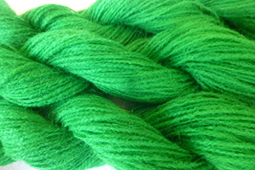 Spring Green Fingering lace Weight Knitting Crochet Yarn TWO PACK