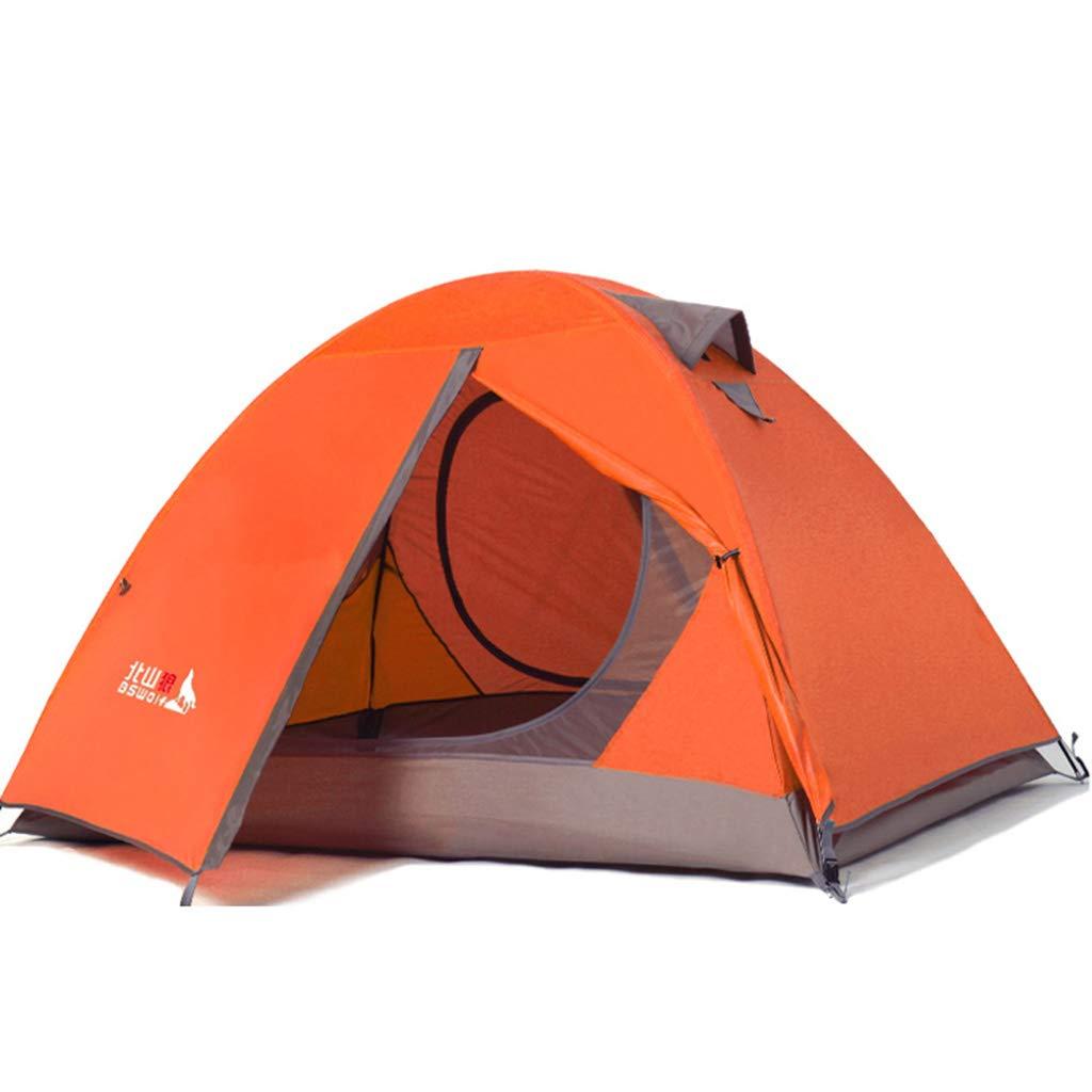 Tent Kuppelzelt Outdoor Doppel Doppel Aufstand Regen Wild Beach Camping Ausflug Aluminium Pole Wandern Camping (2 Farben Optional)