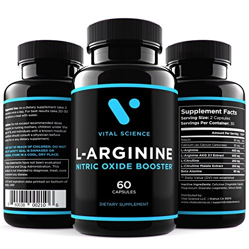 L Arginine Citrulline Complex Supplement 1280mg Larginine ...