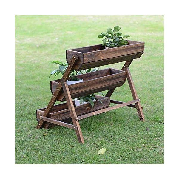 HEMFV 3 Tier Giardino alzato for Verdure in Legno sopraelevata Planter Box di Legno Naturale for Outdoor Patio Yard… 6 spesavip