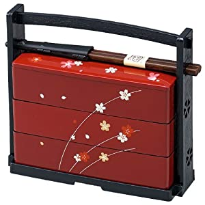 sakura lunch bento box 3 tier 06423 by japanbargain kitchen dining. Black Bedroom Furniture Sets. Home Design Ideas