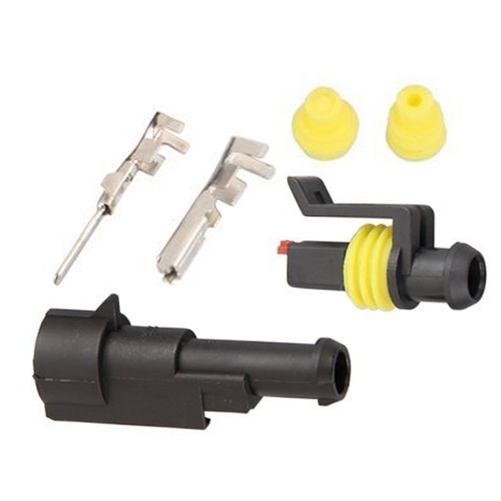 Hifrom 10 Kit 3 Pin Way Waterproof Electrical Connector 15mm Series Wire Harness Terminals Heat Shrink Quick Locking