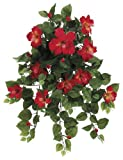Artificial 22-inch Red/Yellow Hibiscus Trailing Bush (Set of 6)