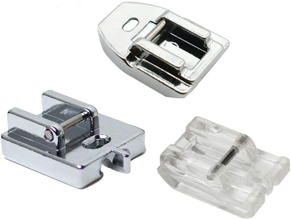 3pcs Style Concealed Invisible Zipper Sewing Machine Presser Foot for All Low Shank Snap-On Singer, Brother, Babylock, Euro-Pro, Janome, Kenmore, White, Juki, New Home, Simplicity, Elna by LNKA