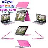 "iPearl mCover Hard Shell Case for 2016 13.3"" Dell Inspiron 13 5368 / 5378 2-in-1 Convertible ( NOT compatible with other Dell Inspiron 5000 series models ) Laptop ( Pink )"