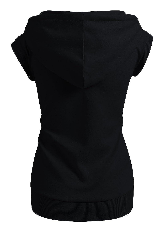 04d3544cf4c54f Amazon.com  CLOVERY Women s Sleeveless Hoodies Basic Hoodie Zip up  Clothing