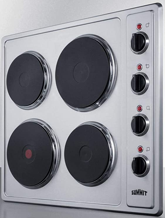 """2 Burners Details about  /Summit CSD2B230 11-1//4/"""" Electric CookTop with Manual Controls"""
