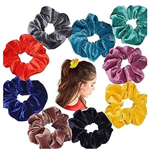 iNoDoZ Women or Girls Scrunchy Hair Ties Scrunchie Scrunchies Accessories Velvet Headwear Elasticity Hair Bands -
