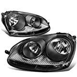 VW Golf / GTI / Jetta / Rabbit Pair of Headlight (Black Housing Clear Corner)