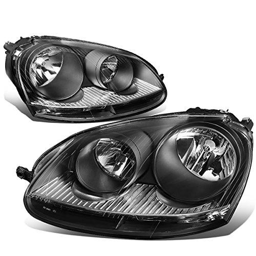 VW Golf / GTI / Jetta / Rabbit Pair of Headlight (Black Housing Clear Corner) by Auto Dynasty