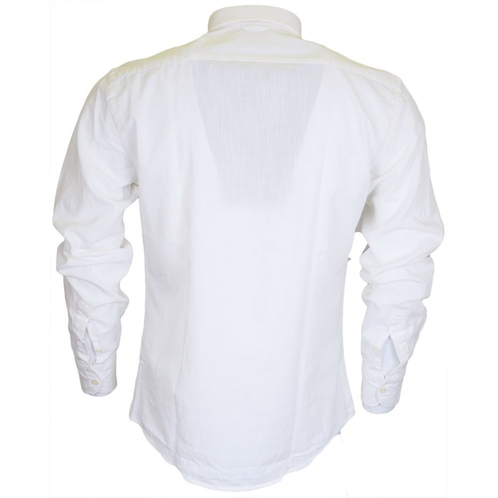 Franklin /& Marshall CA303 Martins Long Sleeve White Shirt