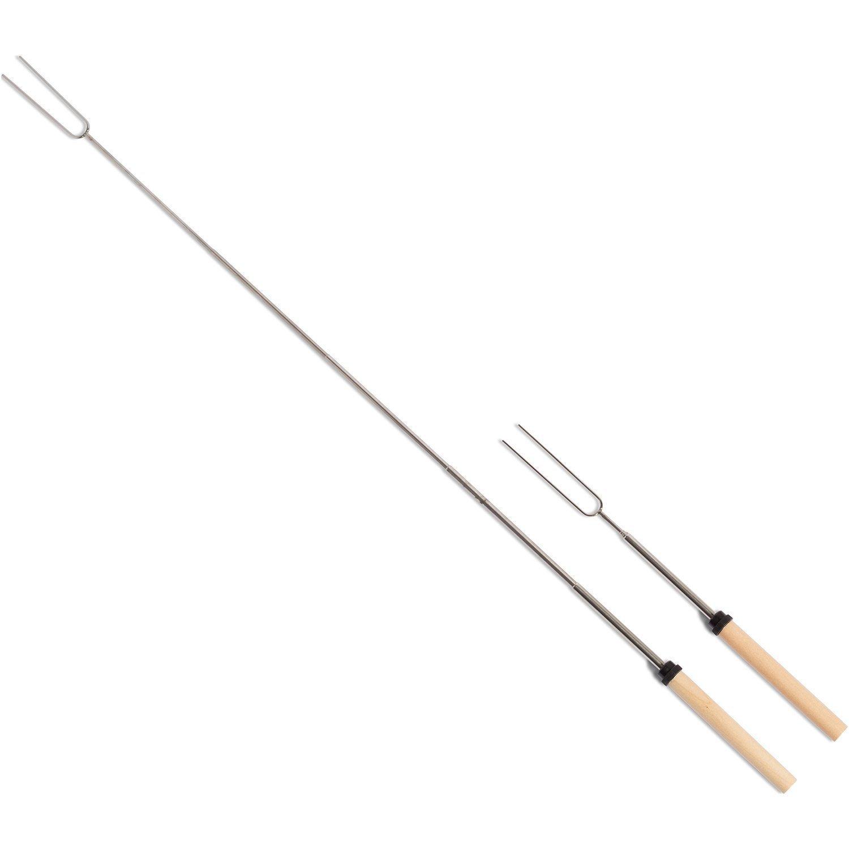 Yakura 8 Piece Marshmallow Roasting Sticks, Telescoping Smore Skewers For Bbq Hot Dog Fork Patio Fire Pit Camping by Yakura (Image #3)