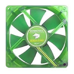 LOGON TCOOLGREEN12 Ventilador - Ventilador de PC (Ventilador, 12 cm, 600 RPM, 16 dB, Verde, 120 mm)