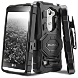 LG Tribute 2 / LG Leon/LG Risio Case, Evocel [New Generation Series] Belt Clip Holster, Kickstand, Dual Layer for LG Tribute 2 (LS665)/ LG Leon (H340, H326, H345, H320, C40)/ LG Risio, Black