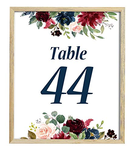 (Darling Souvenir Floral Table Numbers Wedding Reception Decorative Table Cards-5