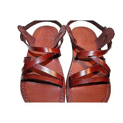 Brown Star Leather Sandals For Men & Women - Handmade Unisex Sandals Flip Flop Sandals Jesus Sandals Genuine Leather Sandals