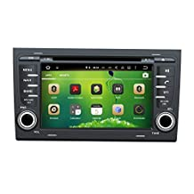 XTTEK 7 inch HD 1024x600 Multi-touch Screen in dash Car GPS Navigation System for Audi A4 2002-2008 Quad Core Android DVD Player+Bluetooth+WIFI+SWC+Backup Camera+North America Map