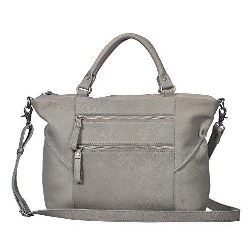 """Vilenca """"40718 Grigio"""" Signore borsa a tracolla, borsa di cuoio per le donne, Dimensioni- L40cmxH28cmxw15cm �?"""