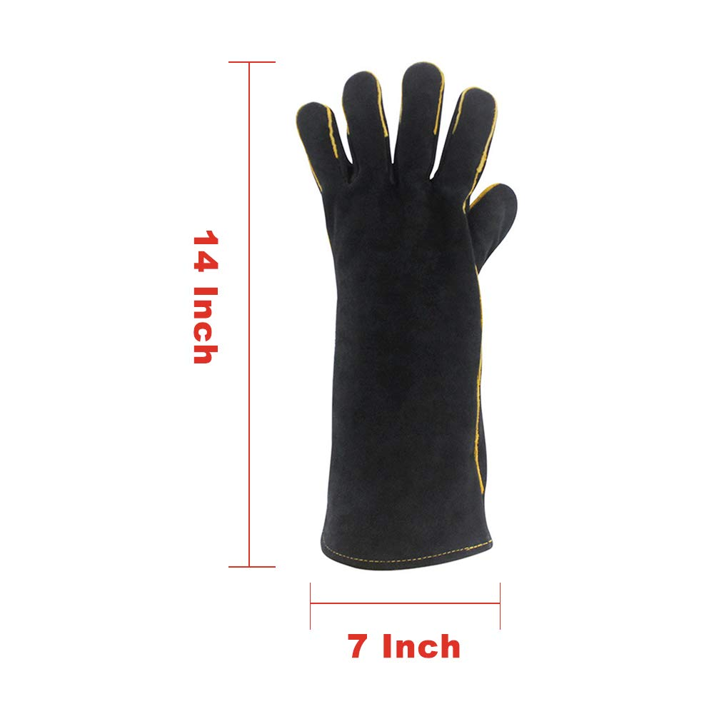 Welding Gloves for Tig Mig Durable and Heat Resistant for Welding Grill Fireplace or BBQ Quilence