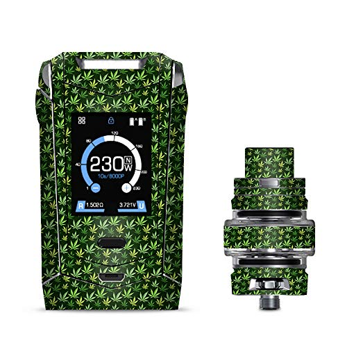 IT'S A SKIN Decal Vinyl Wrap for Smok Species 230W TFV8 Baby V2 Vape Sticker Sleeve/Pot Leaves Small Green Stoner