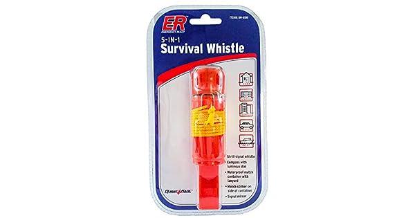 ER Emergency Ready 8M-65N1 5-in-1 Emergency Survival Whistle Quake Kare Inc.