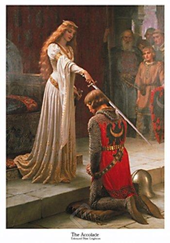 The Accolade by Edmund Blair Leighton. Art Print Poster