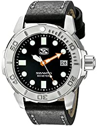Mens SZ 5101 Deep Dive Analog Display Japanese Quartz Black Watch