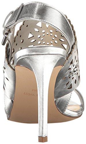 Sandalo In Pelle Radhuni Delle Nove Donne Dellovest Argento