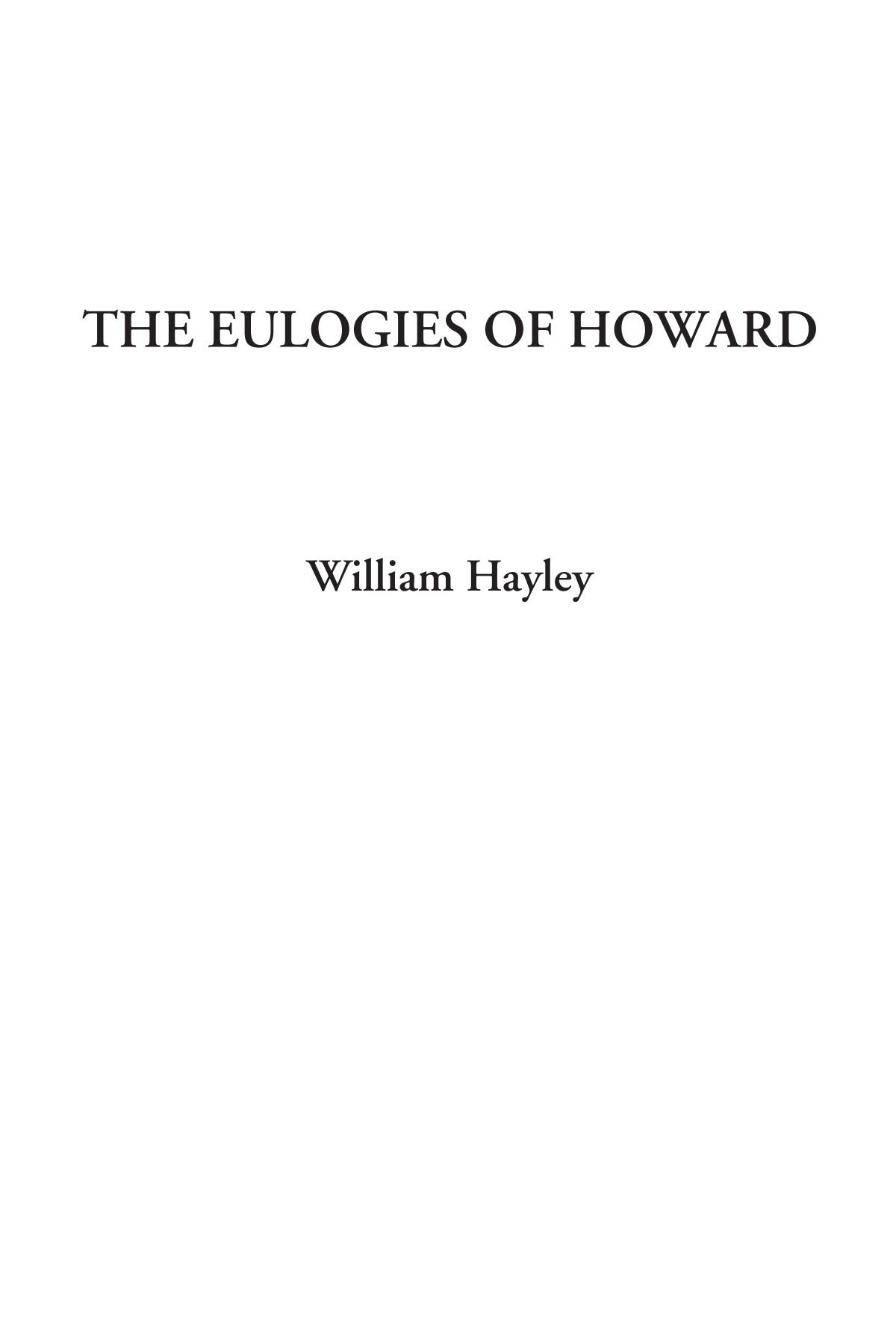 The Eulogies of Howard pdf