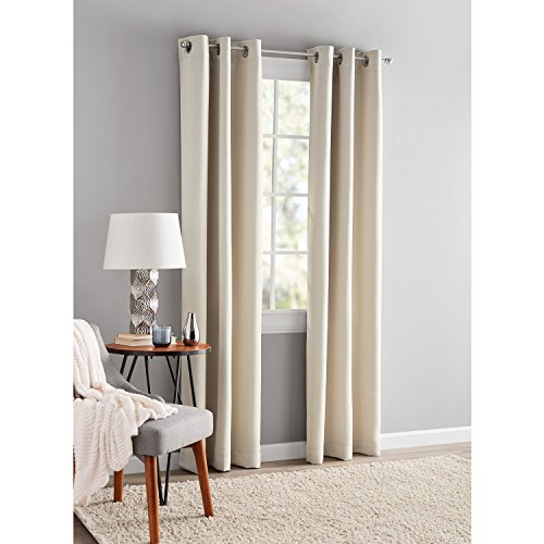 Mainstays Blackout Energy Efficient Grommet Curtain Panel 40x63 Beige