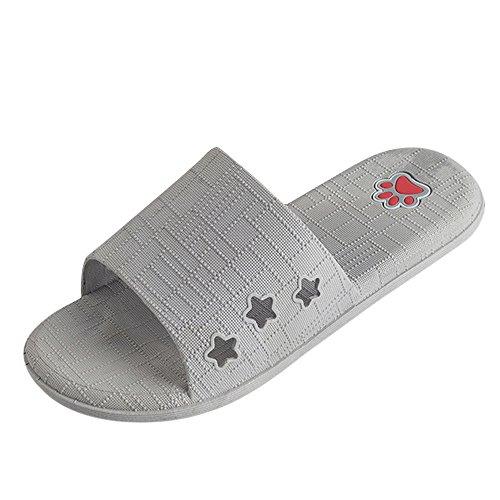 De Baño Zapatillas Hombres Piso Enrejado Indoor Zapatillas Gris Outdoor Sandalias Verano ALIKEEY amp; qwYOStR